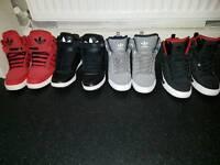 Adidas high tops bundle size 10