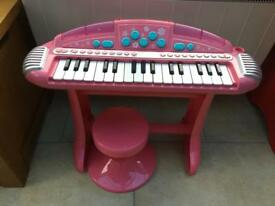 Early learning pink keyboard