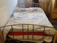 Double metal bed frame (matresss included)