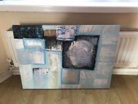 Duck egg blue canvas from Dunelm