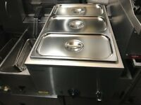 CATERING COMMERCIAL CATERING EQUIPMENT BRAND NEW WET 3 POT BAIN MARIE CUISINE KITCHEN COMMERCIAL BBQ