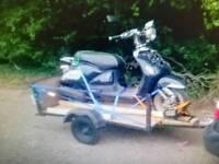 Motorcycle motorbike car trailer