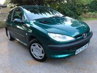 PEUGEOT 206 1.4 LX 3DR *AUTOMATIC* ***23K WARRANTED MILES***GREAT FIRST TIME CAR*