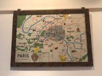 Vintage frame and vintage maps