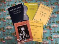 Cello. Violin. Piano Musics For Sale