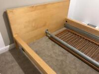 Ikea Malm bed frame and bed side tables
