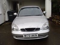 SILVER DAEWOO NUBIRA 2000 REG 1.6 PETROL MANUAL 4 DOOR MOT TILL JUNE 20017 £395