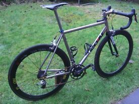 FOR SALE £1999.00 original cost £6750 all receipts 54cm titanium spitfire iii Bicycle ridefullgas