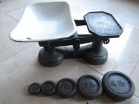Vintage weighing scales