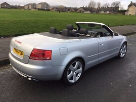 Audi A4 CABRIOLET 2.0 TDI S Line 140 2dr,07 REG,VERY NICE CONDITION,1 OWNER FROM NEW,FSH,HPI CLEAR.