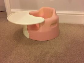 Pink Bumbo with Tray Table