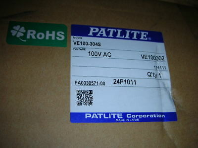 PATLITE VE100-304S Real-time Production Monitoring LED Display 100MM Digits NOS!