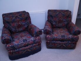 Two high quality, comfortable arm chairs