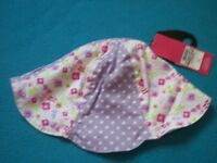 New M&S Girls Petal Summer Hat Age 18 Months - 3 Years IP1