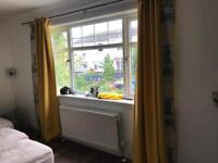 Ikea corner suite and co ordinating bespoke curtains and 12 cushions