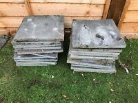 Slate Slabs 4 - 4x 600x600, 13x 600x300 and 22x 300x300