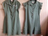 School dresses summer green 9-10