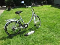 FOLDING ELECTRIC CYCLE FROM AS BIKES 26'' WHEELS
