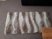 Woollen rug - Brown and White - Any Offer Considered
