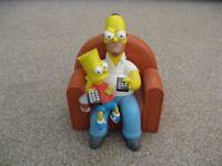 Homer Simpson & Bart Simpson Ceramic Money Box, Genuine merchandise, unused very good condition