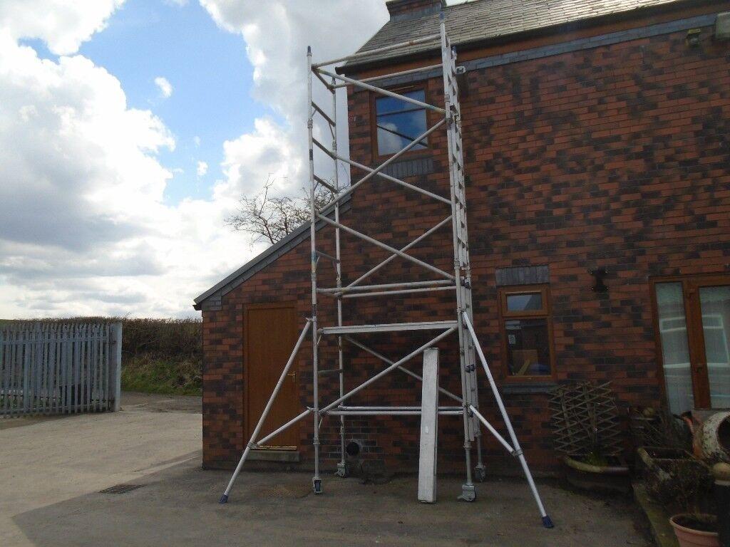 alloy boss narrow scaffold tower