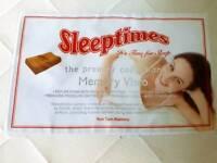 Double Memory foam mattress & 2memory foam pillows