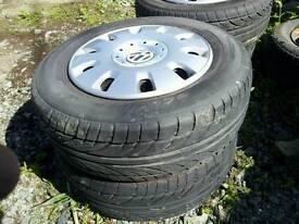 Van tyres x 4 new vw ford