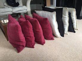 Cushions x 9 good condition
