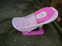 Girls baby bath seat