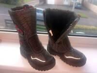 Spiderman winter boots