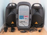 Behringer Europort EPA900 Ultra-compact 900W, 8-channel portable PA system - Used Good Condition