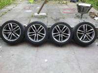 5X112 AUDI MERCEDES ALLOYS 18 INCH IMMACULATE CONDITION BLACK EDITION