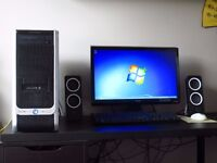 Desktop PC with Monitor, Speakers, Keyboard and Mouse