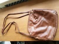 Beautiful soft brown leather handbag