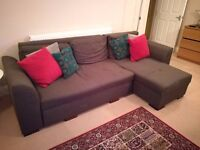Navy Blue Corner Sofa / Pull-Out Bed