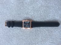 Unisex Watch - Black and Bronze Effect