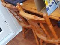BARGAIN PRICE FARM HOUSE TABLE AND FOUR CHAIRS