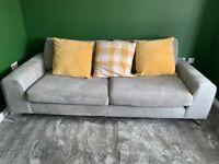 DFS grey 4 seater sofa-** quick sale**