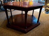**£10** Dark Hardwood Coffee Table