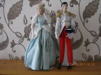 Franklen heirloom cinderella and prince charming dolls