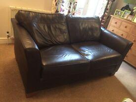 Debenhams leather Cavendish brown sofa with