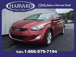 2012 Hyundai Elantra GLS, Moon Roof, Mint, Red Allure
