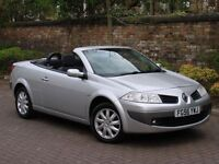 EXCELLENT CONVETIBLE! 56 REG RENAULT MEGANE 1.6 VVT DYNAMIQUE PANORAMIC SUNROOF 1 YEAR MOT WARRANTY