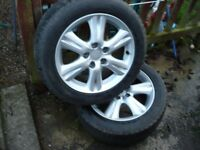 toyota avensis alloy wheels with winter tyres