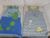 2 AS NEW SLEEPING BAGS SIZE 12-18 MONTHS 2.5 TOG