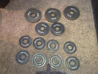 Weight Plate Set 5KGs 2.5KGs 1.25 KGs