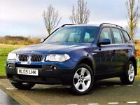 PERFECT 4X4! (2005) BMW X3 2.5 SPORT - LEATHER - 18 INCH ALLOYS - 12 MONTHS MOT - FULLY LOADED