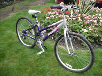 "Girls Raleigh Krush Mountain Bike - 13"" Aluminium Frame - 24"" Wheels - 18 Gears"