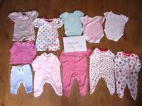 Bundle 18 pieces baby girl clothes Newborn 0-3m 3-6m
