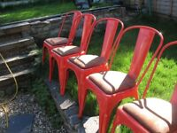 6 x Metal Tolix style Chairs Industrial Dining Bistro Cafe Kitchen Chairs - Ideal for Cafe Bistro